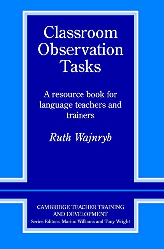 9781107400153: Classroom Observation Tasks South Asian edition