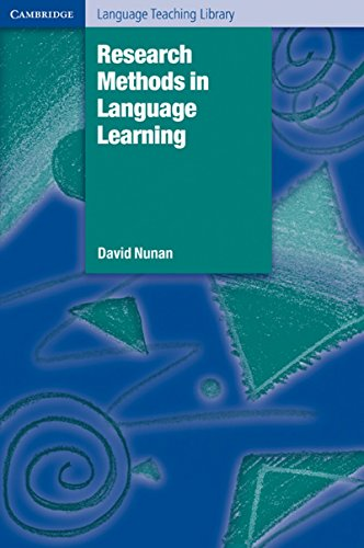 9781107400214: Research Methods in Language Learning South Asian edition