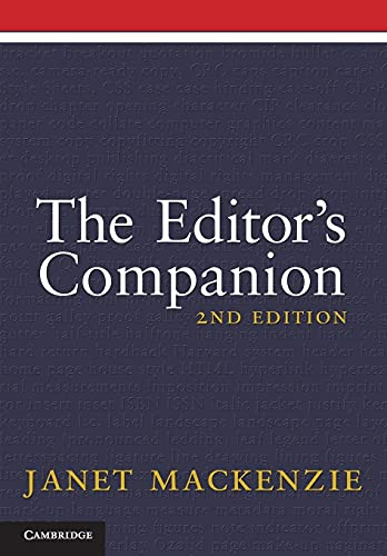 THE EDITOR'S COMPANION. 2ND EDITION