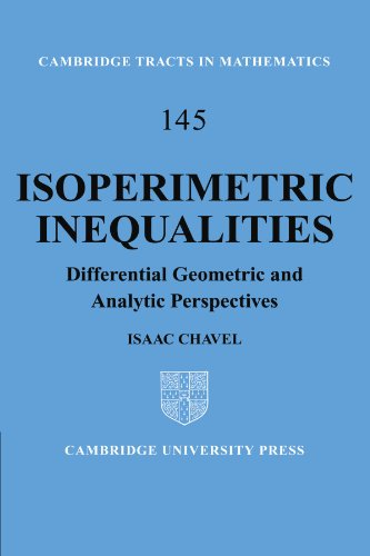 9781107402270: Isoperimetric Inequalities: Differential Geometric and Analytic Perspectives (Cambridge Tracts in Mathematics)