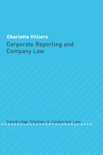 9781107406537: Corporate Reporting and Company Law (Cambridge Studies in Corporate Law)