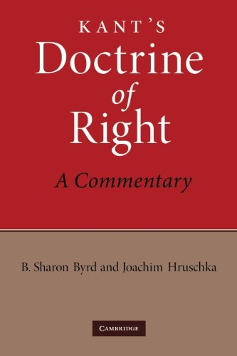 9781107406896: Kant's Doctrine of Right: A Commentary