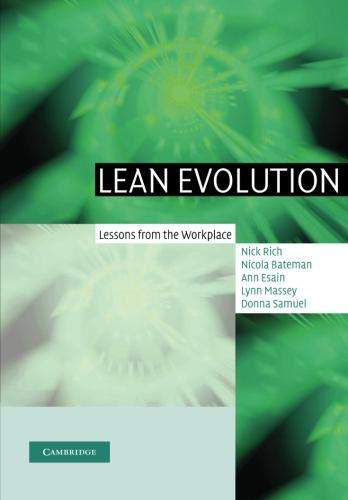 9781107407190: Lean Evolution: Lessons from the Workplace