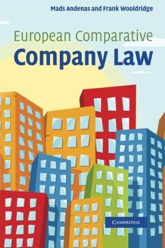 9781107407640: European Comparative Company Law