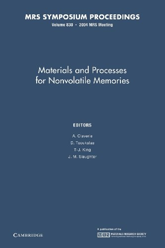 9781107409132: Materials and Processes for Nonvolatile Memories: Volume 830 (MRS Proceedings)