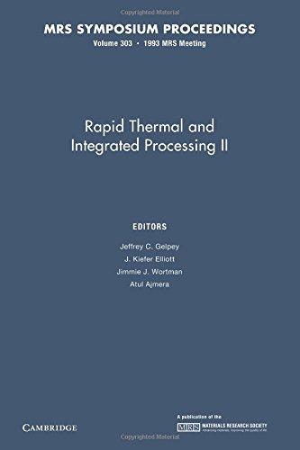 Rapid Thermal and Integrated Processing Ii: Volume 303 (Paperback)