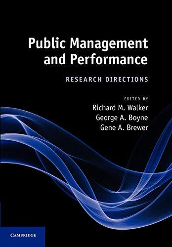 Public Management and Performance: Walker, Richard M.