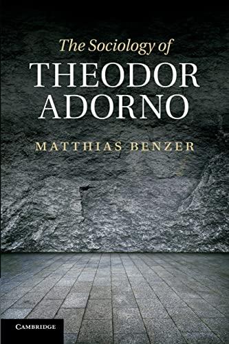 9781107416741: The Sociology of Theodor Adorno