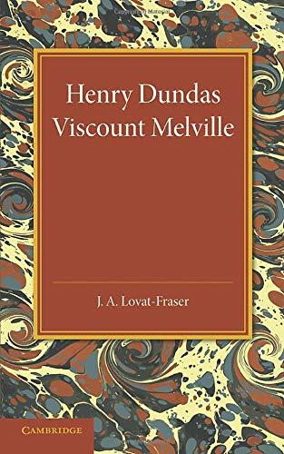 9781107418783: Henry Dundas Viscount Melville