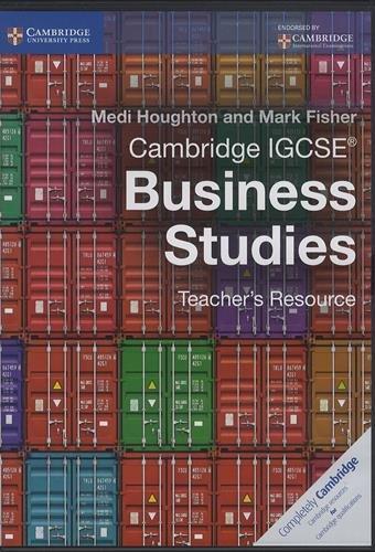 Cambridge Igcse (r) Business Studies Teacher's Resource Cd-rom (Compact Disc): Medi Houghton