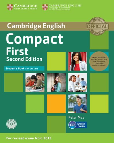 9781107428454: Compact First Student's Book Pack (Student's Book with Answers with CD-ROM and Class Audio CDs(2)) Second Edition