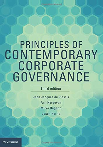 Principles of Contemporary Corporate Governance: Plessis, Jean Jacques