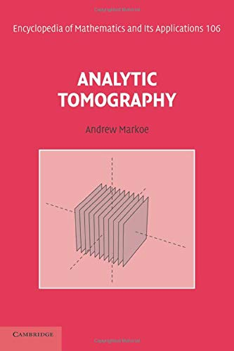 9781107438620: Analytic Tomography (Encyclopedia of Mathematics and Its Applications)