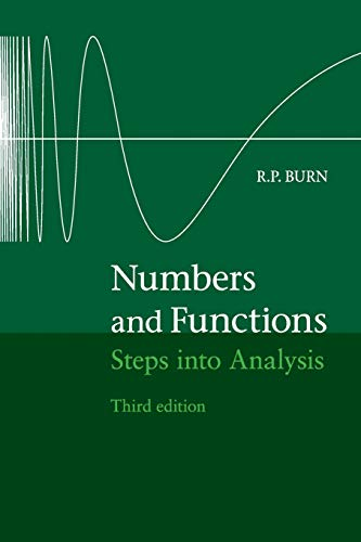 9781107444539: Numbers and Functions: Steps into Analysis
