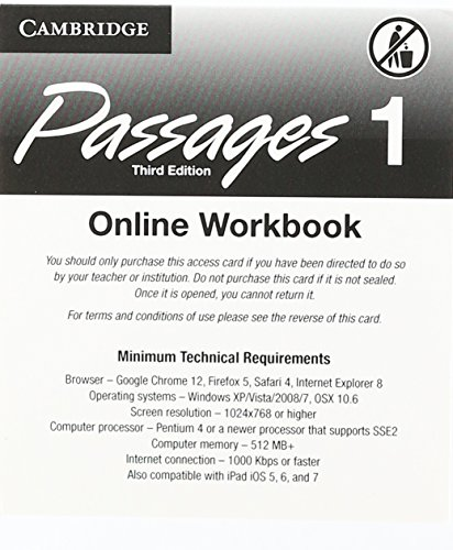 9781107446946: Passages Level 1 Online Workbook Activation Code Card