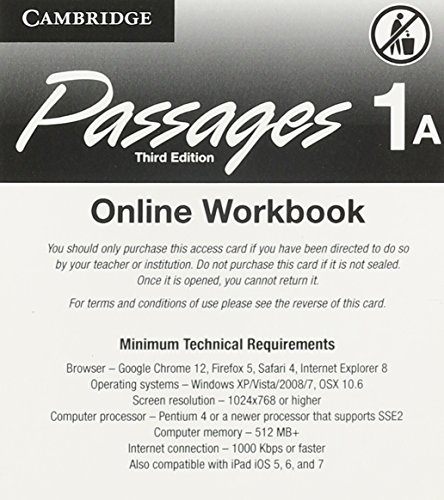 9781107446960: Passages Level 1 Online Workbook A Activation Code Card