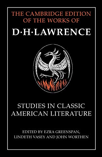 9781107457508: Studies in Classic American Literature (The Cambridge Edition of the Works of D. H. Lawrence)
