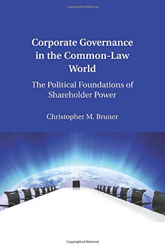 9781107459434: Corporate Governance in the Common-Law World: The Political Foundations of Shareholder Power