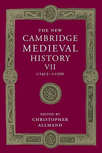 9781107460768: The New Cambridge Medieval History: Volume 7, c.1415-c.1500