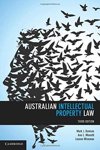 9781107472297: Australian Intellectual Property Law