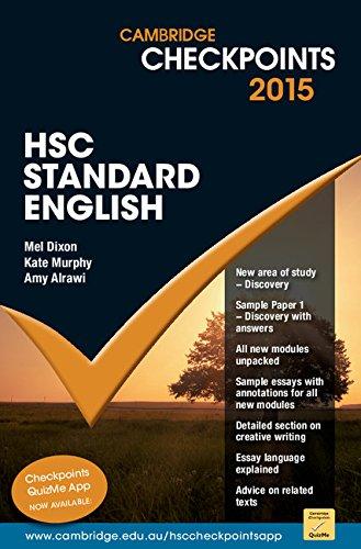 Cambridge Checkpoints HSC Standard English 2015: Mel Dixon