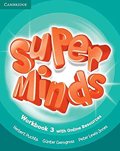 9781107482999: Super Minds 3 Workbook +Online [Lingua inglese]