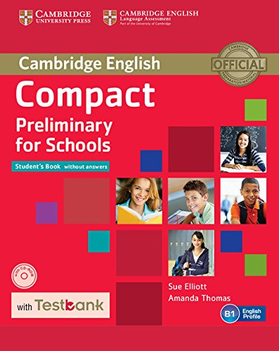 9781107527089: Compact Preliminary for Schools Student's Book without Answers with CD-ROM with Testbank