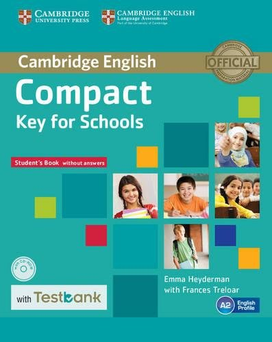 9781107527188: Compact Key for Schools Student's Book without Answers with CD-ROM with Testbank