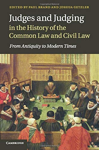 judges and judging in the history of the common law and civil law br and paul getzler joshua