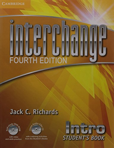 9781107570900: Interchange Intro Students Book with Self-study DVD-ROM with Class Audio CDs (3)