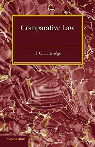 9781107594722: Comparative Law: An Introduction to the Comparative Method of Legal Study and Research