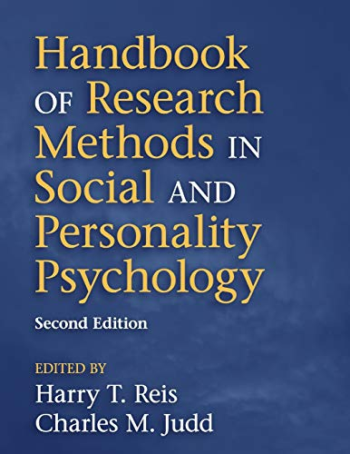 9781107600751: Handbook of Research Methods in Social and Personality Psychology