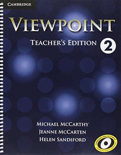 Viewpoint Level 2 Teacher's Edition with Assessment Audio CD/CD-ROM: McCarthy, Michael; ...