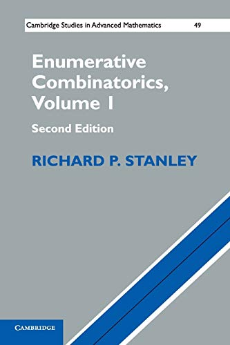 9781107602625: 1: Enumerative Combinatorics: Volume 1 (Cambridge Studies in Advanced Mathematics)