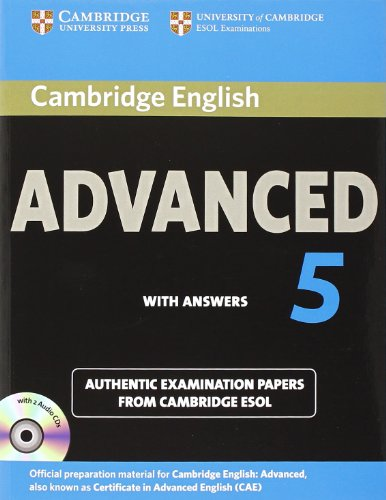 9781107603271: Cambridge English Advanced 5 Self-study Pack (Student's Book with Answers and Audio CDs (2)): Authentic Examination Papers from Cambridge ESOL (CAE Practice Tests)