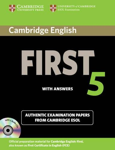 9781107603349: Cambridge English First 5 Self-study Pack (Student's Book with Answers and Audio CDs (2)): Authentic Examination Papers from Cambridge ESOL (FCE Practice Tests)
