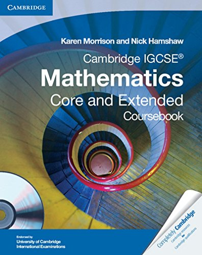 Cambridge IGCSE Mathematics Core and Extended Coursebook: Hamshaw, Nick, Morrison,