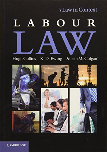9781107608863: Labour Law (Law in Context)