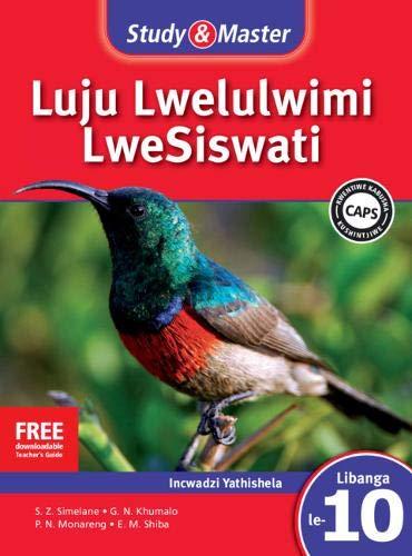 Study & Master Siswati Teacher's Guide Incwadzi