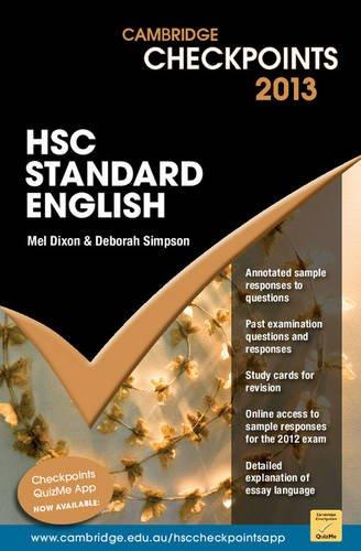 Camb Checkpts Hsc Standard Eng 2013: Vv.Aa.