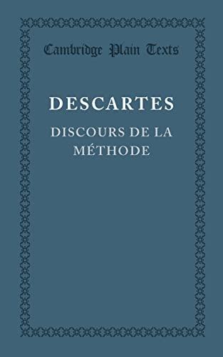 9781107614260: Discours de la méthode (Cambridge Plain Texts) (French Edition)