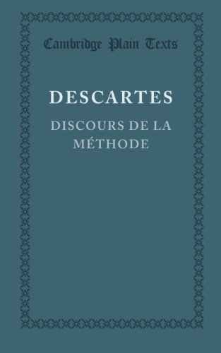 9781107614260: Discours de la méthode (Cambridge Plain Texts) (French Edition)