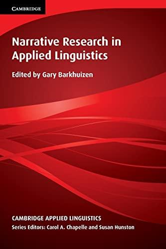 9781107618640: Narrative Research in Applied Linguistics (Cambridge Applied Linguistics)