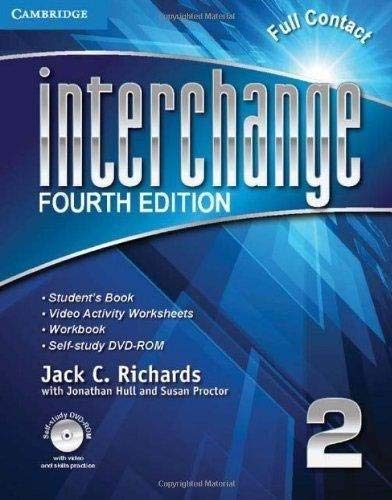 9781107625006: Interchange Level 2 Full Contact with Self-study DVD-ROM (Interchange Fourth Edition)