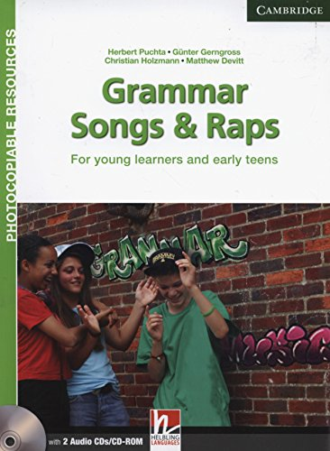 9781107625181: Grammar Songs and Raps Teacher's Book with Audio CDs (2) (Helbling Photocopiable Resources)
