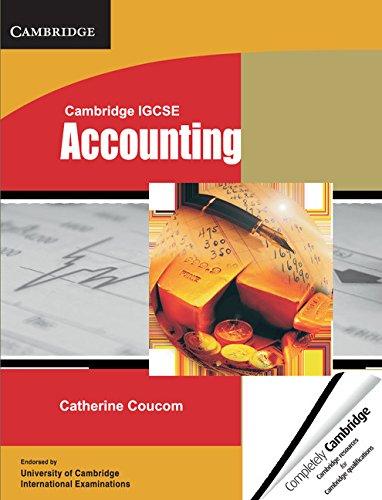 Cambridge IGCSE Accounting Student's Book (Cambridge International: Coucom, Catherine