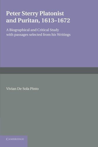 9781107625969: Peter Sterry: Platonist and Puritan 1613-1672