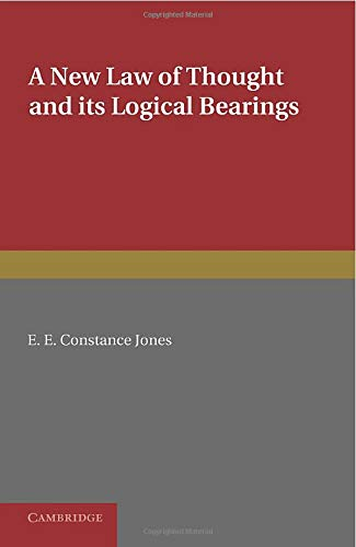 9781107626652: A New Law of Thought and its Logical Bearings