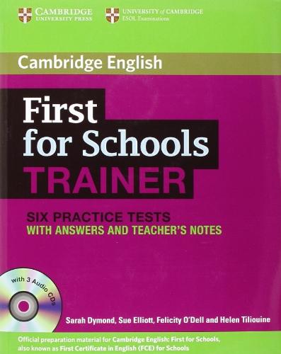 9781107630529: First for schools trainer. Six practice tests. With answers. Con espansione online. Con CD Audio. Per le Scuole superiori