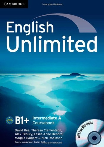 9781107631038: English Unlimited Intermediate A Combo with DVD-ROMs (2)